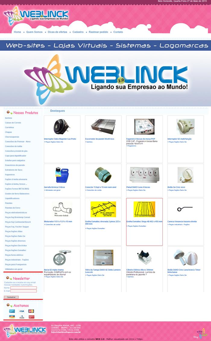 Loja Modelo 3 Abilio machado, lojas virtuais grátis Bh, Alipio de melo comercio, Portal Abilio machado, weblinck, desenvolvimento de sites em bh