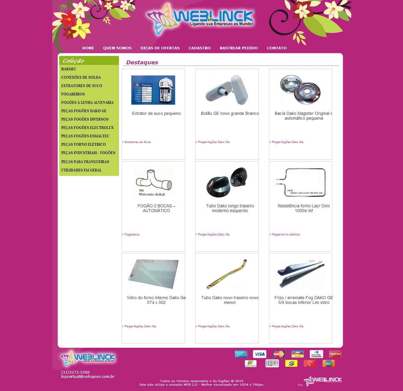 Loja Modelo 4 Abilio machado, lojas virtuais grátis Bh, Alipio de melo comercio, Portal Abilio machado, weblinck, desenvolvimento de sites em bh