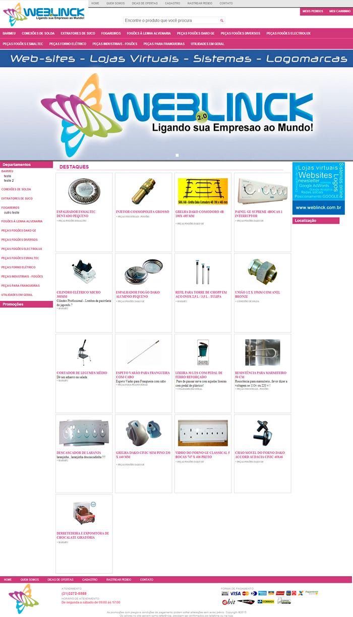 Loja Modelo 7 Abilio machado, lojas virtuais grátis Bh, Alipio de melo comercio, Portal Abilio machado, weblinck, desenvolvimento de sites em bh