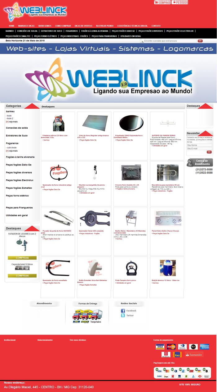 Loja Modelo 8 Abilio machado, lojas virtuais grátis Bh, Alipio de melo comercio, Portal Abilio machado, weblinck, desenvolvimento de sites em bh