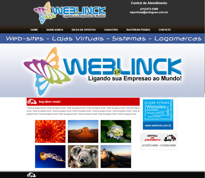 Modelo 05 Abilio machado, websites grátis Bh, Alipio de melo comercio, Portal Abilio machado, weblinck, desenvolvimento de sites em bh